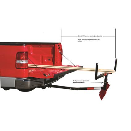 Hitch-Mounted Truck Bed Extender
