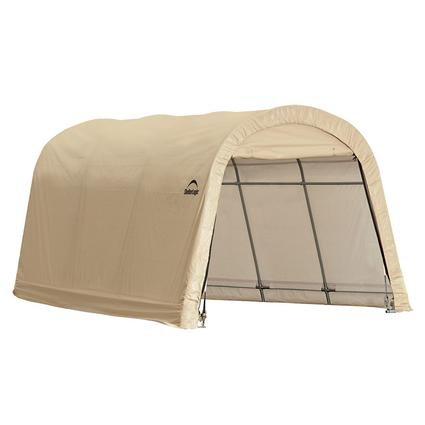 Auto Shelter 10 x 15 x 8 ft. Round Style, Sandstone Cover