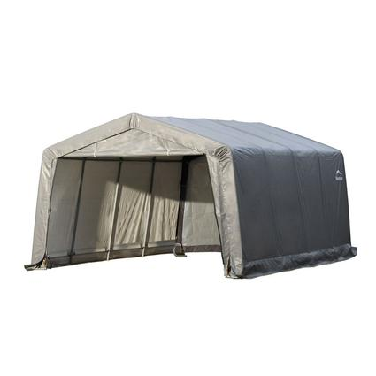 Peak Style Shelter 12 × 16 × 8 Gray Cover