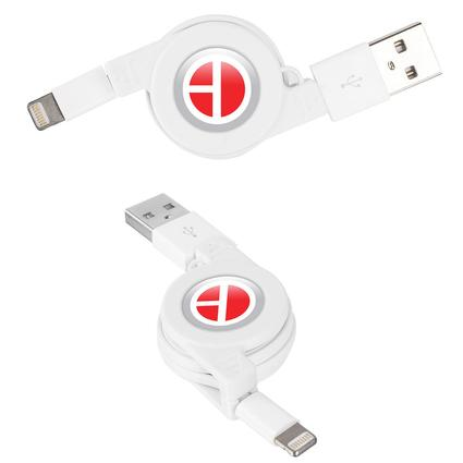 Retractable USB to Lightning Cable