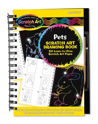 Scratch Art Drawing Book, Pets
