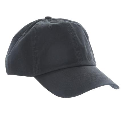 Cotton Twill Baseball Cap, Black