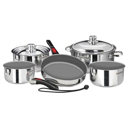"10 Piece Gourmet ""Nesting"" Induction Compatible Cookware Set"