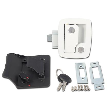 Travel Trailer Replacement Door Latches, White Finish