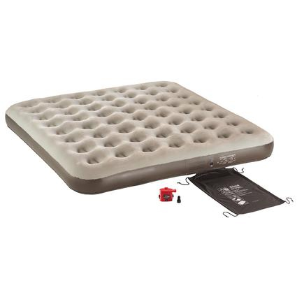 Single High QuickBed Air Bed 4D Battery Pump Combo - King, Brown