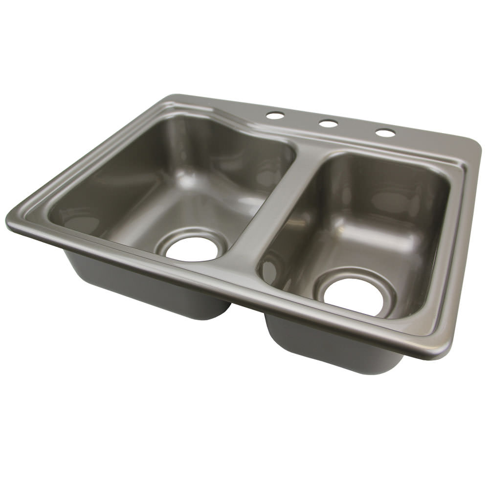 Double Kitchen Sink Stainless Steel Color Lippert