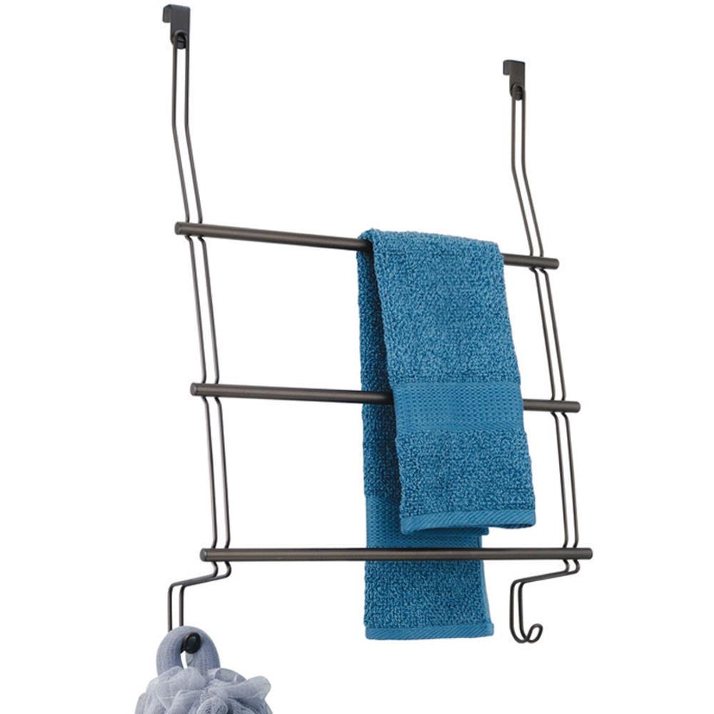 Over Door 3 Bar Towel Rack - Bronze - Interdesign 69111 - Racks ...