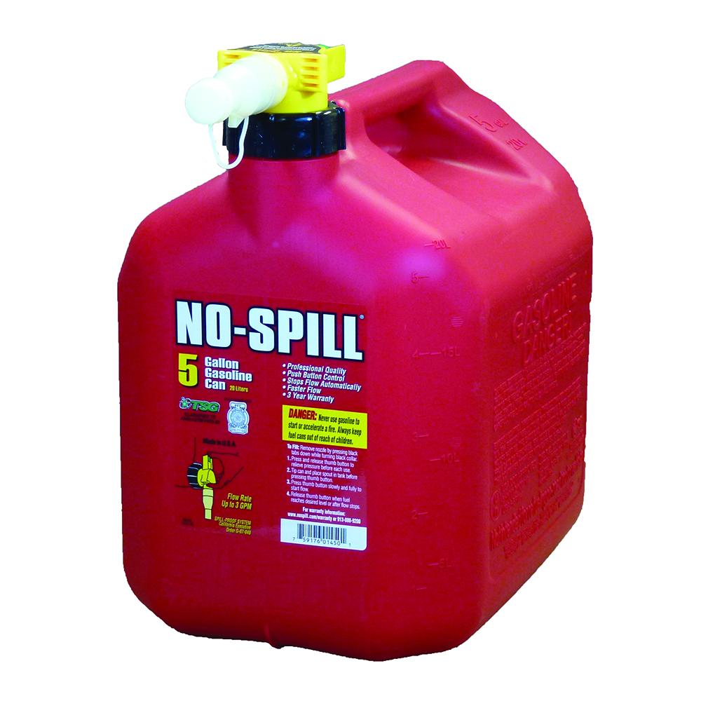 No Spill Gasoline Cans 5 Gallon Gasoline Can No Spill Inc 1450