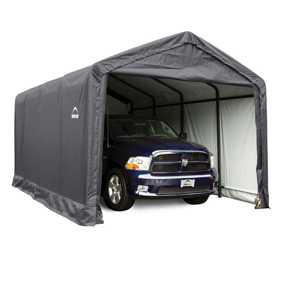 Sam S Portable Garage : Sheltertube storage shelter gray cover