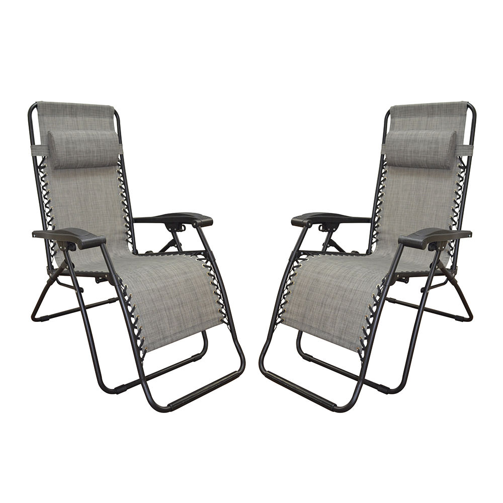 Zero Gravity Recliner, Gray   2 Pack   Caravan Canopy 80009000122    Recliners   Camping World