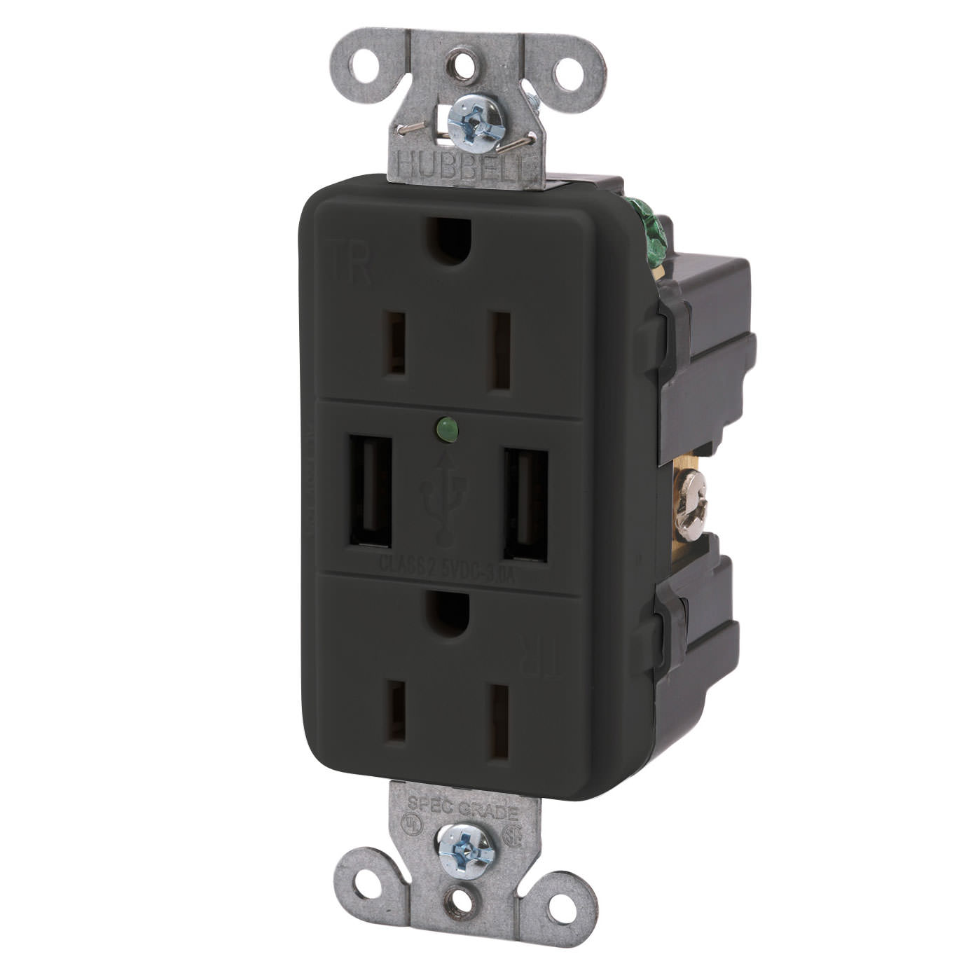 Double USB Charger with Double 110v outlet