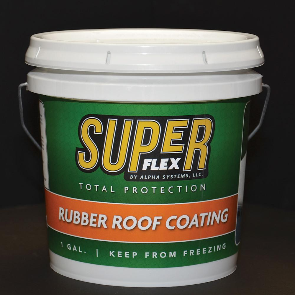 Superflex Rubber Roof Coating 1 Gallon Alpha Systems