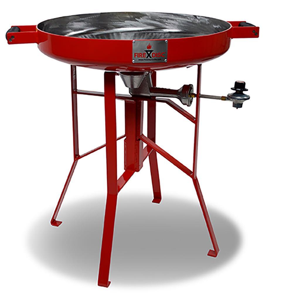 """Red FIreDisc Mini Grill, 24"""" - Firedisc Grills TCGFOM22HRR ..."""