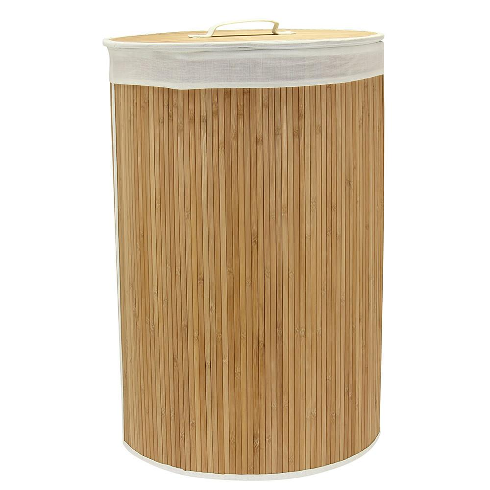 Bamboo hamper with lid household 6066 1 laundry aids camping world - Bamboo clothes hamper ...