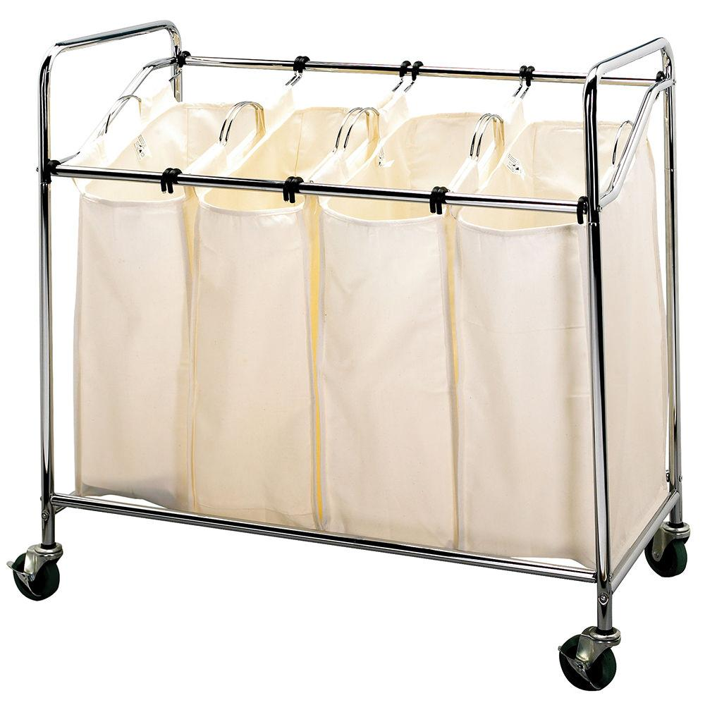 4 Bin Laundry Sorter - Household 6024-1 - Laundry Aids ...