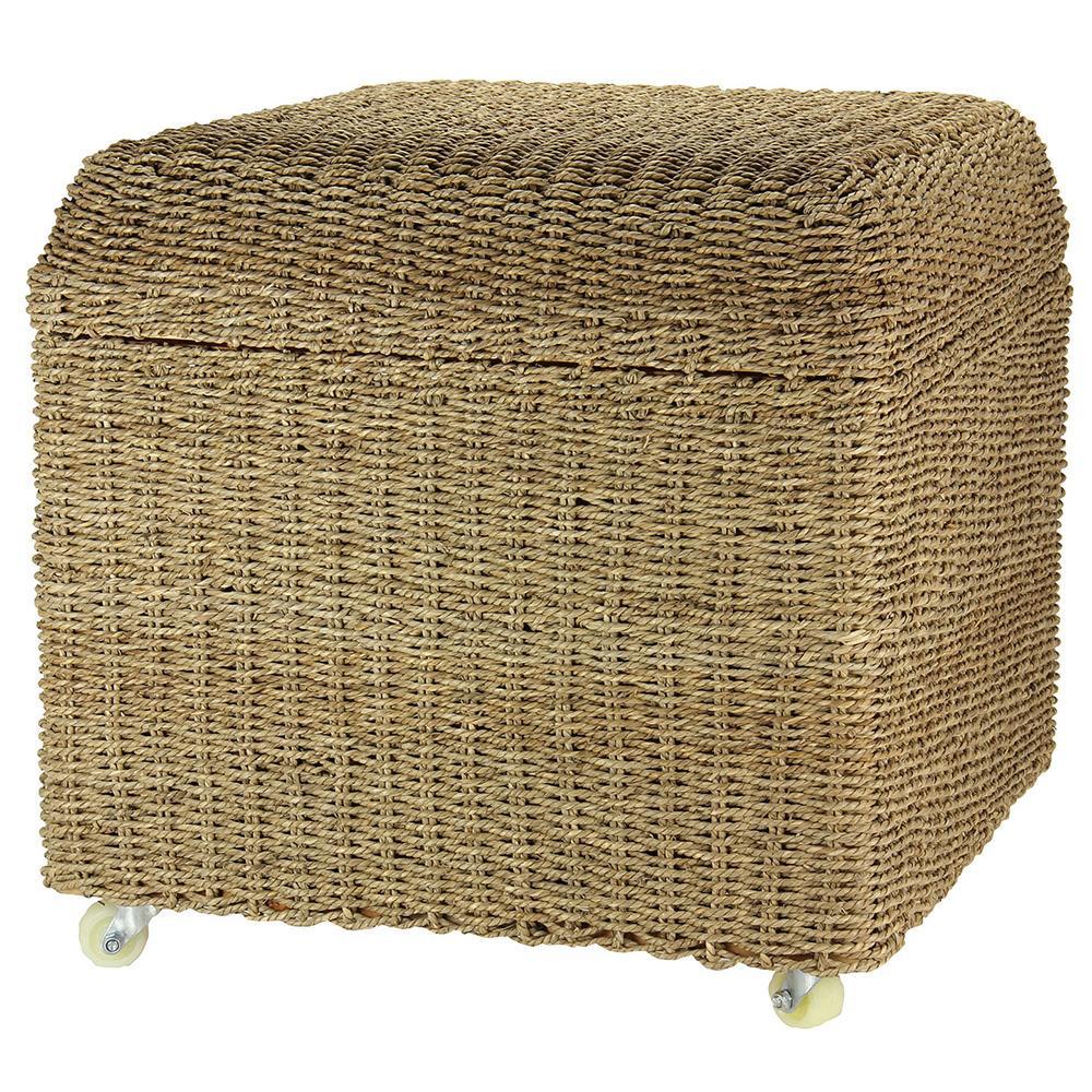 wicker storage seat ottoman household ml 5650 storage