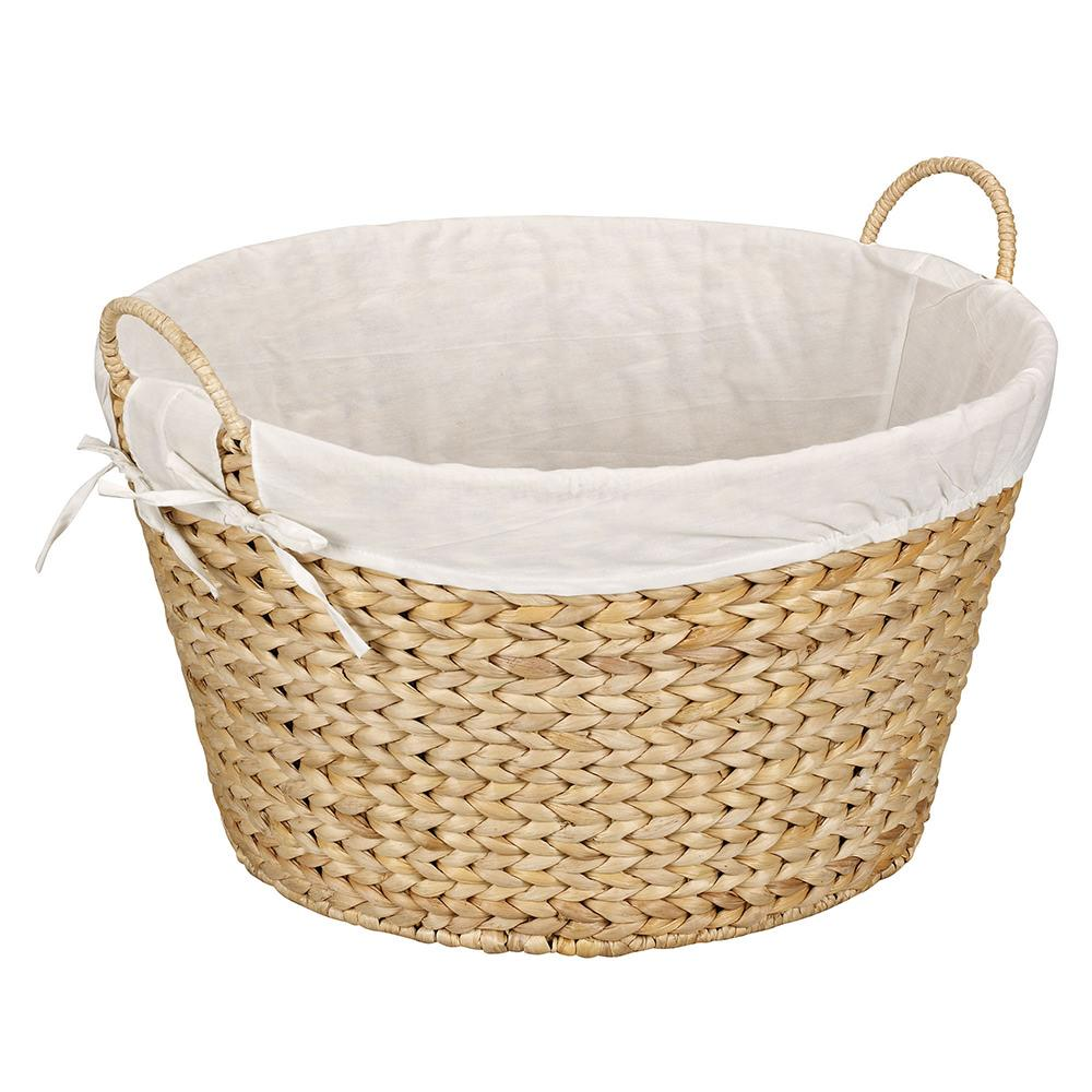How To Weave A Basket From Banana Leaves : Round banana leaf laundry basket natural household ml