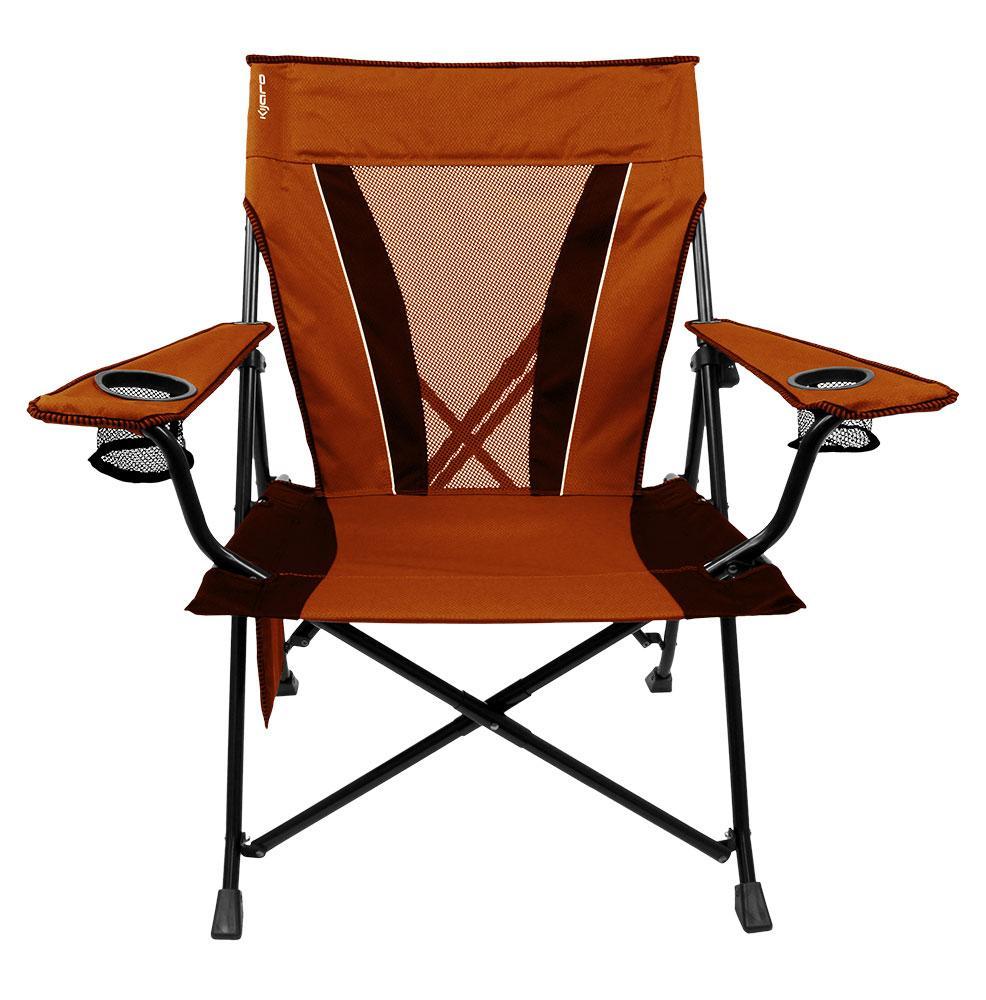Xxl Dual Lock Chair Orange Kijaro 80119 Folding