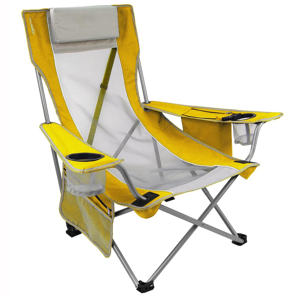 Yellow Beach Sling Chair Kijaro Folding Chairs Camping World