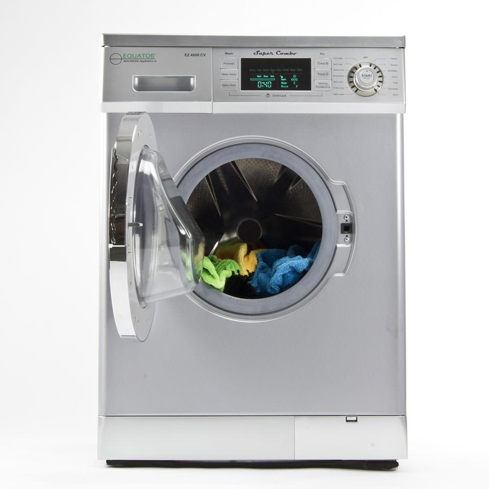 The best top load washer and dryer combo 2015 - Compact Convertible Super Washer With Venting Condensing Drying Silver
