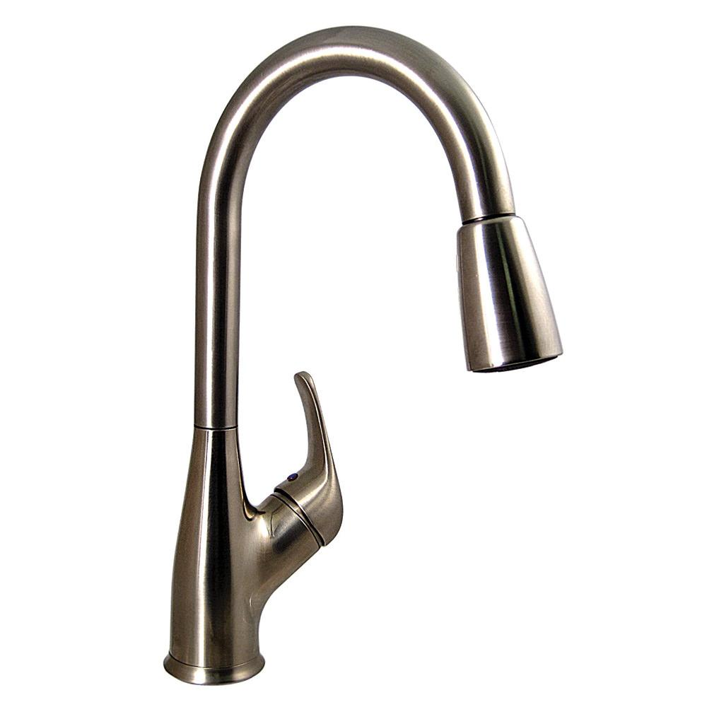 Kitchen Pull Down Faucet Brushed Nickel Finish Valterra Pf231461 Faucets Inlets Camping