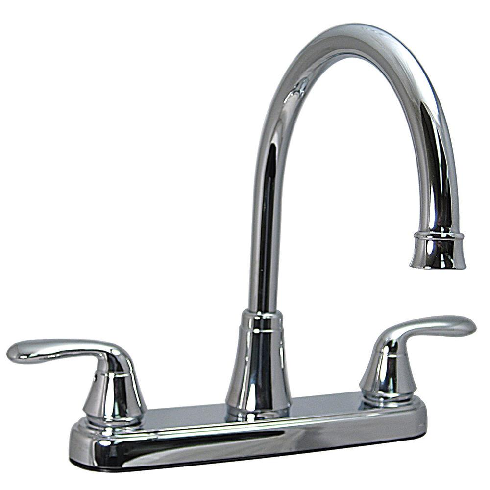 Kitchen 2 handle faucet chrome finish valterra pf231302 for Kitchen faucet finishes