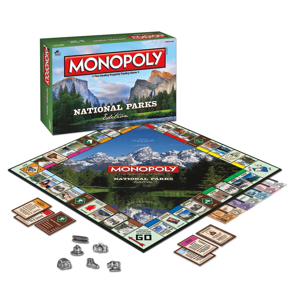 National Parks Monopoly Usaopoly Mn025 000 Board Games