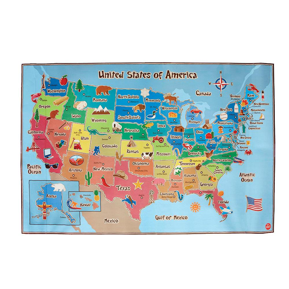 Kids 39 Dry Erase USA Wall Map Brewster Home Fashions WPE0623 Toys Ca