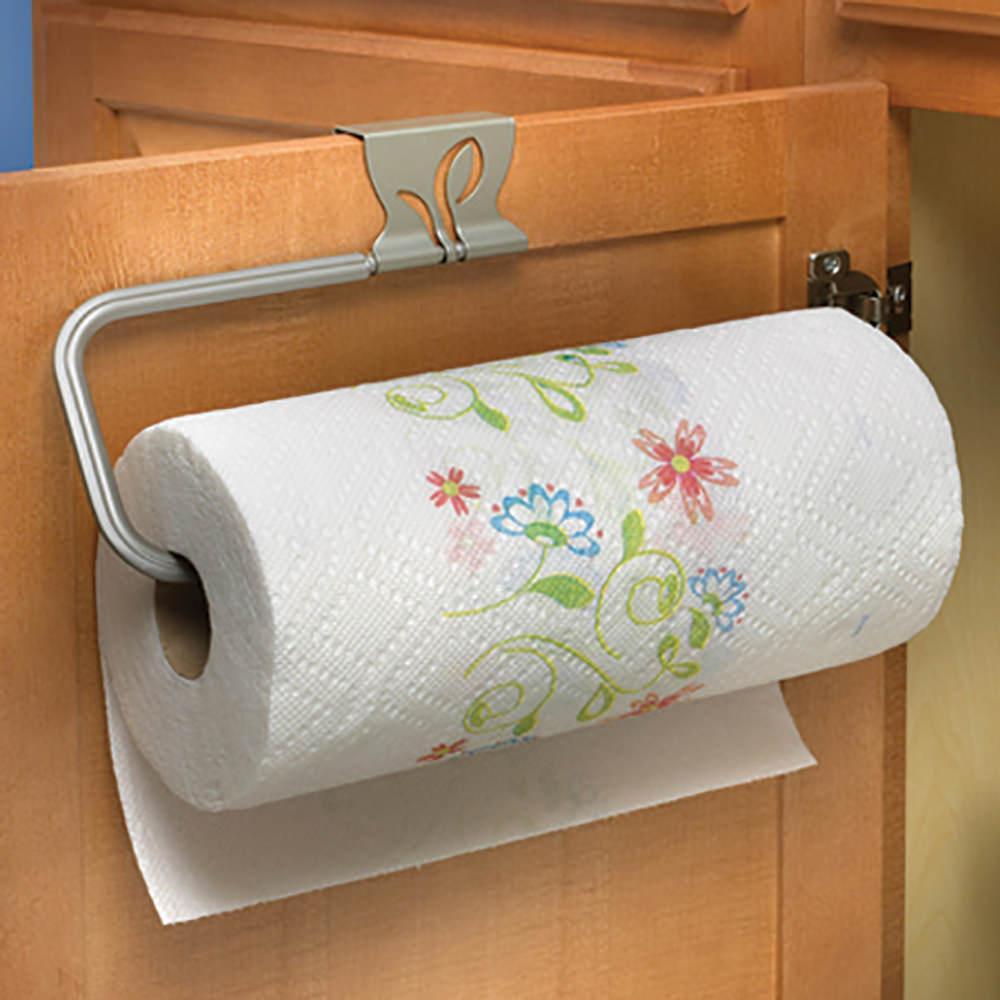 Leaf Over-Cabinet Paper Towel Holder, Satin Nickel Finish ...