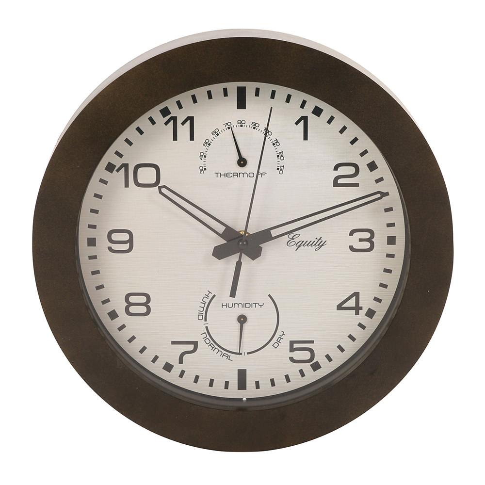 Wall clock with thermometer and humidity 10 la crosse 29005 wall clock with thermometer and humidity 10 amipublicfo Images