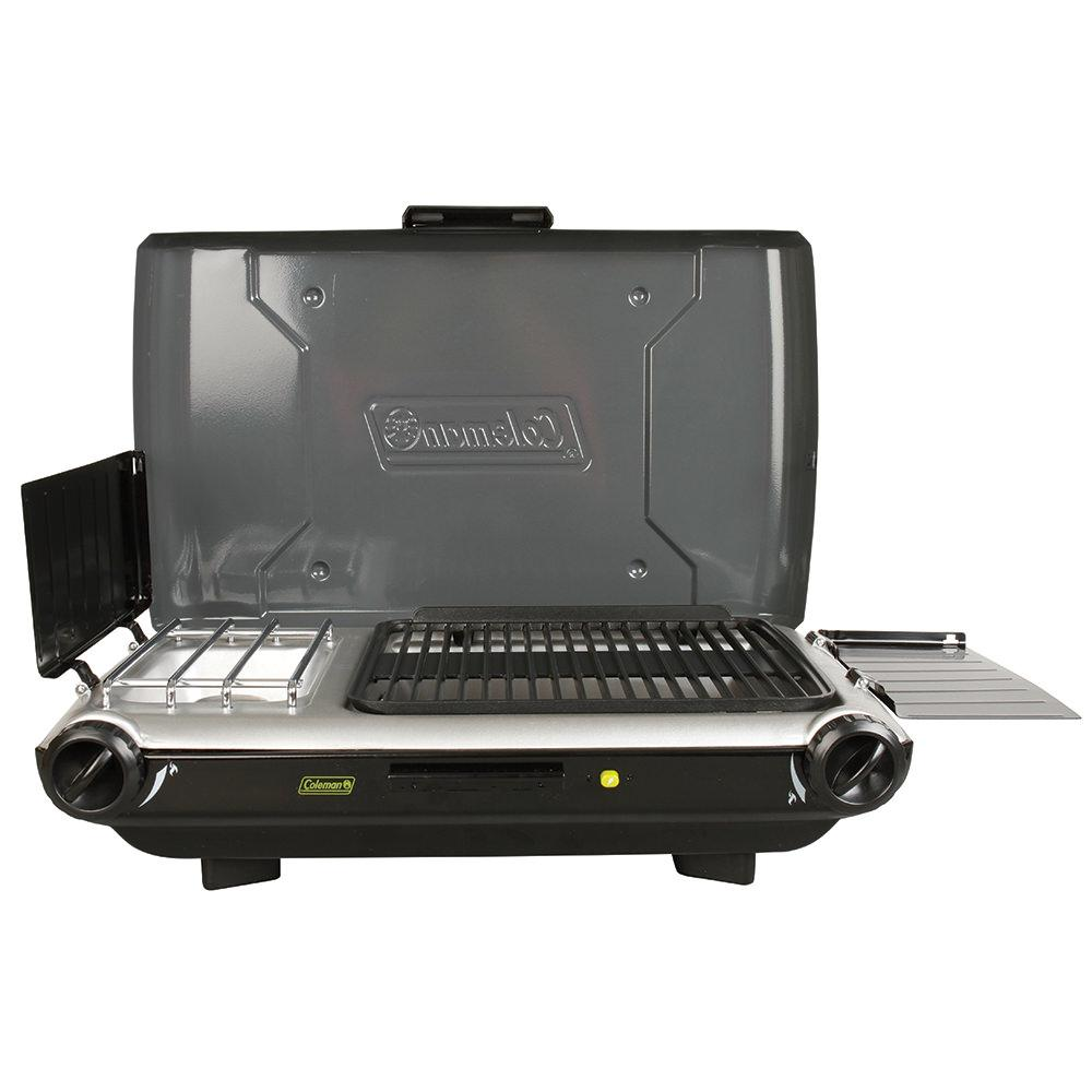 Electric Stove With Grill ~ Burner stove and camp grill combo coleman