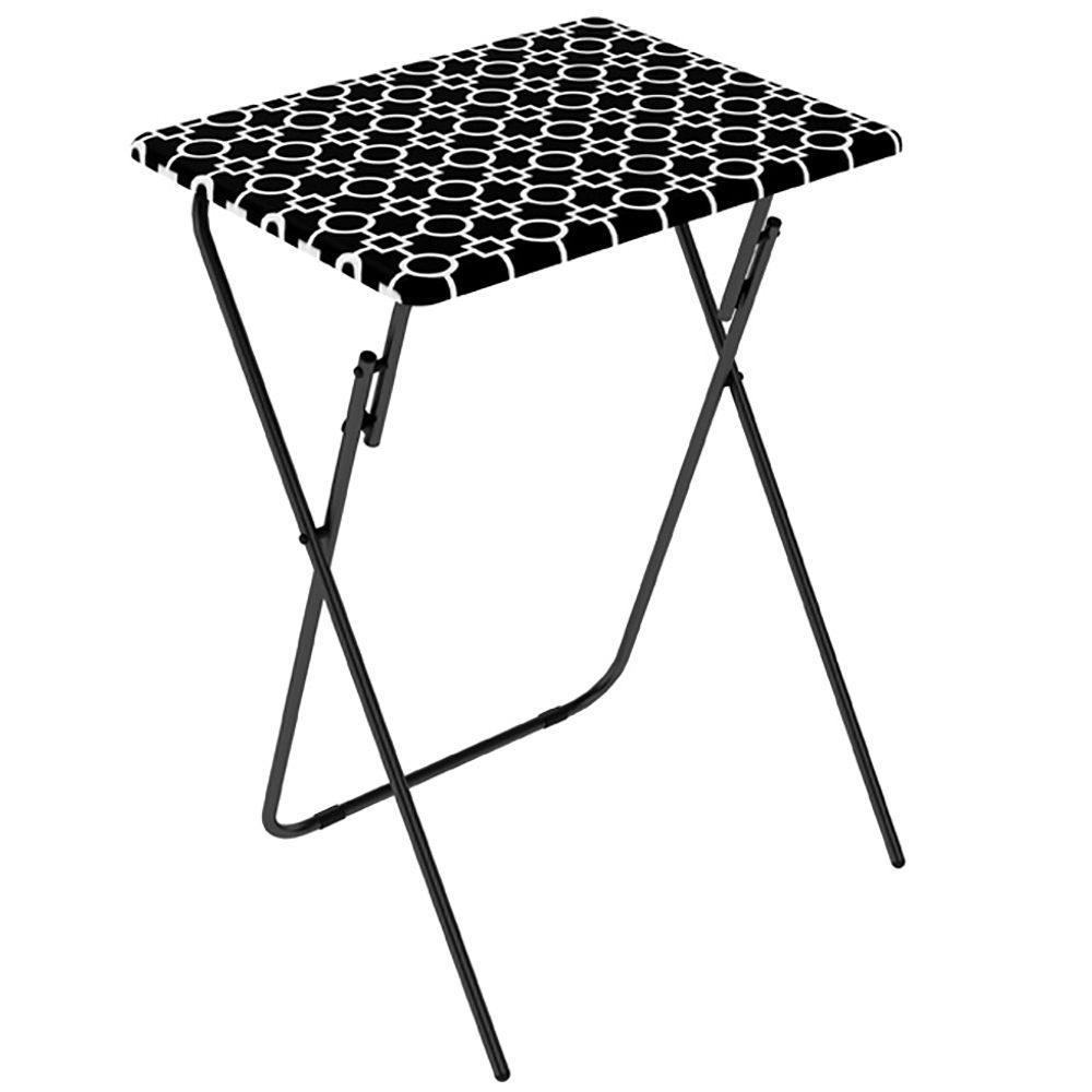 Black Folding TV Tray Tables 2 Pack Atlantic Inc