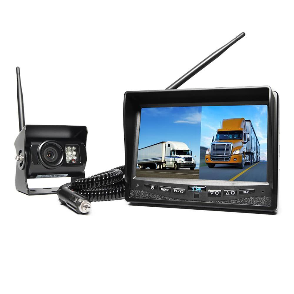 Wireless Backup Camera System - Dual Screen Monitor with Cigarette ...
