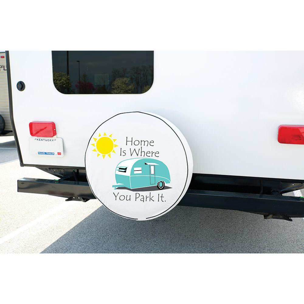 Vinyl Spare Tire Cover Home Is Where You Park It 29