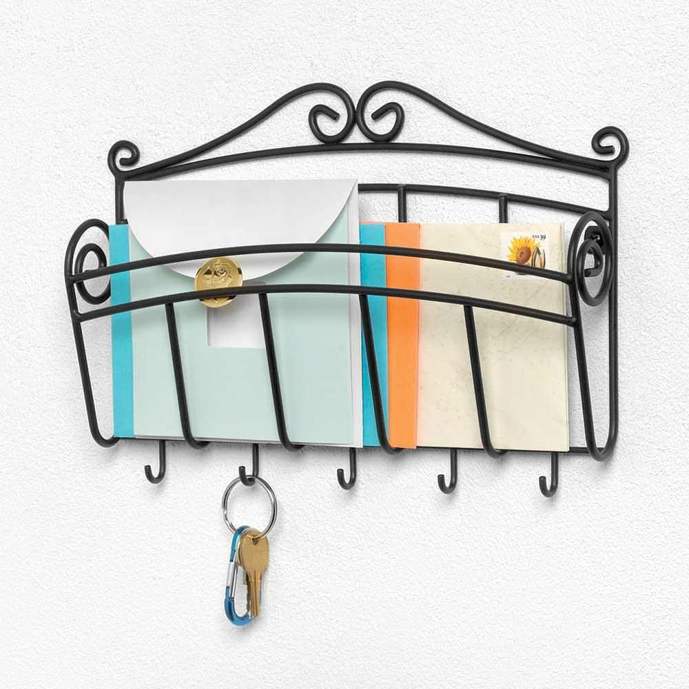 Wall mount single letter holder key rack spectrum diversified designs 37510 racks hooks - Wall mounted letter holder and key rack ...