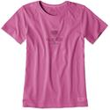 Womens Half Full Crusher Tee, XL - Raspberry