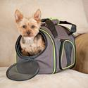 Medium Classy Go Carrier, Brown/Lime Green