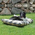 Indoor/Outdoor Pet Bed, Large, Tan Plaid