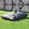 Indoor/Outdoor Pet Bed, Large, Brown Plaid