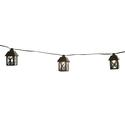 Black Metal Lantern Patio Lights, 10'