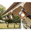 6 Bronze Globe Lights with 30\' Cord