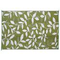 Reversible Leaf Mat, 9' x 12' - Green