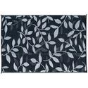 9'X12' Leaf Mat, Black