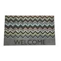 Chevron Rubber Door Mat, 18