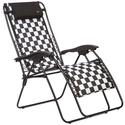 Padded Recliner, Black White Checkered