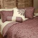 Burgandy 10-Piece Bed in a Box Sets, King