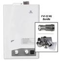 FVI12-NG Tankless Water Heater Vertical Bundle