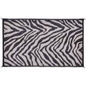 Black Zebra Patio Mat, 8' x 11'