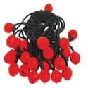 Bungee Ball Elastic Cords, 25 Pack