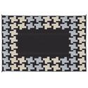 Reversible Patio Mats, 9\' x 12\' Honeycomb Design Black/Gray/Tan